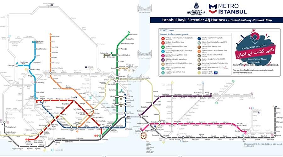 نقشه مترو استانبول