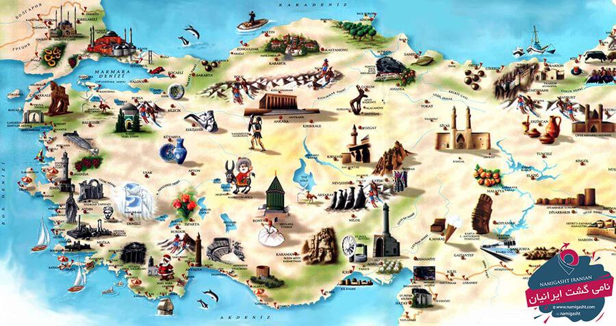 نقشه گردشگری آنتالیا