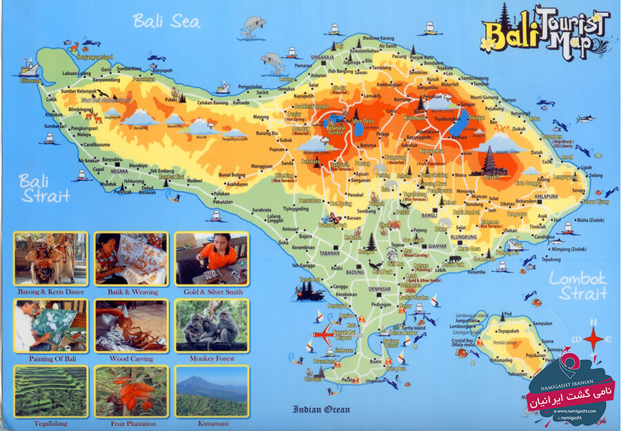 نقشه گردشگری بالی