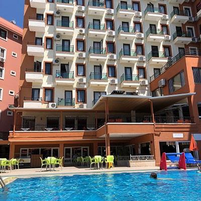 هتل sun fire beach alanya