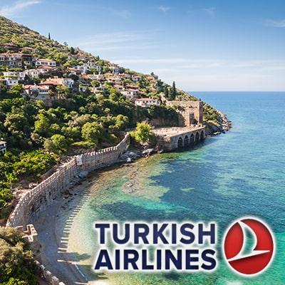 تور آنتالیا با پرواز ترکیش