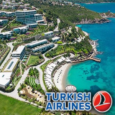 تور بدروم با پرواز ترکیش